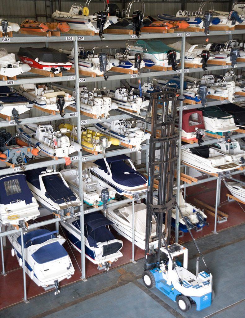 Dry Stack boat storage