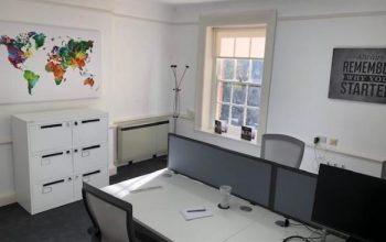 shared office at Gatcombe house