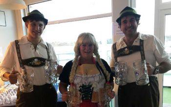 Octoberfest social event at Trafalgar Wharf
