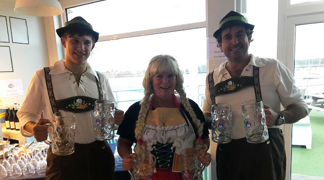 Octoberfest social event at Trafalgar Wharf