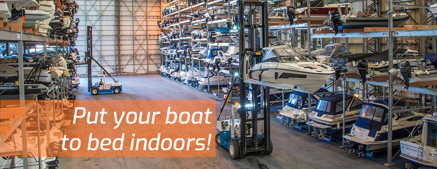 Why you should put your boat indoors this season